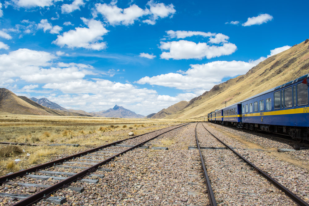 Train through the Andean Highlands
