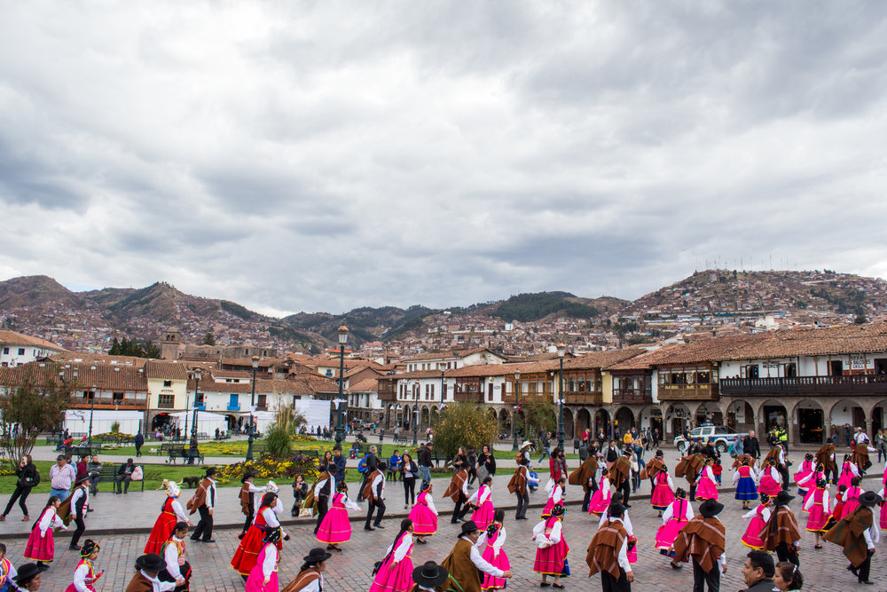 Festival outside of Cusco