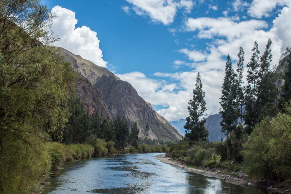 Urubamba River in the Sacred Valley