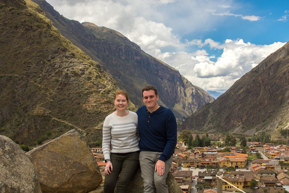 Above Ollantaytambo in the Sacred Valley