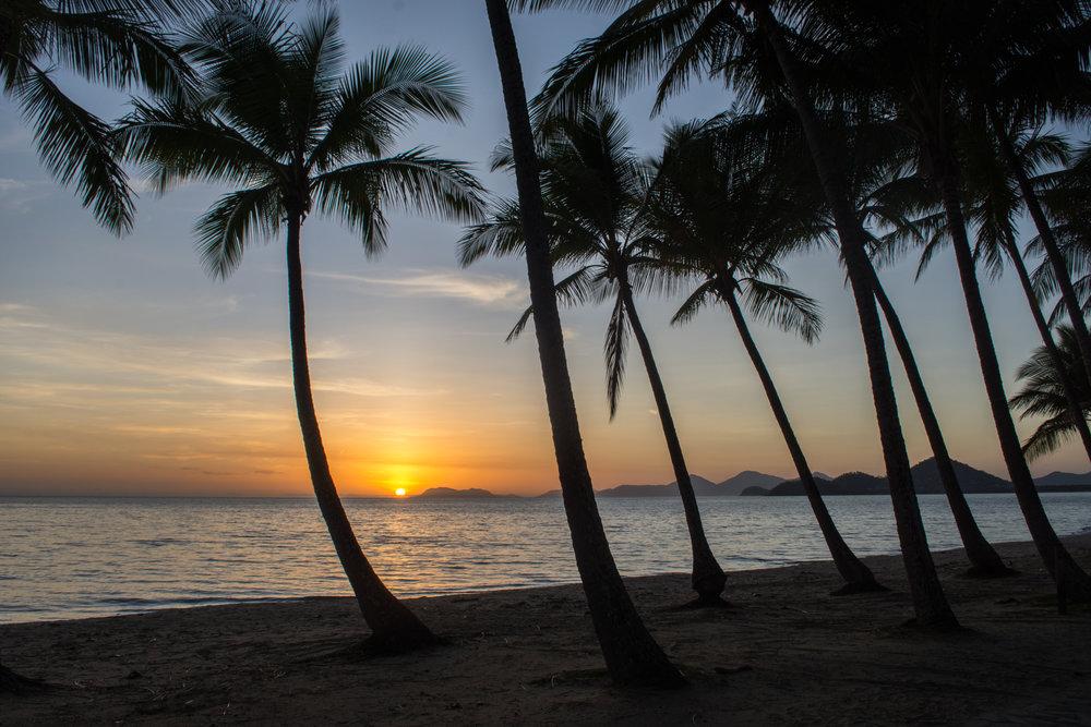 Sunrise over Palm Cove Beach