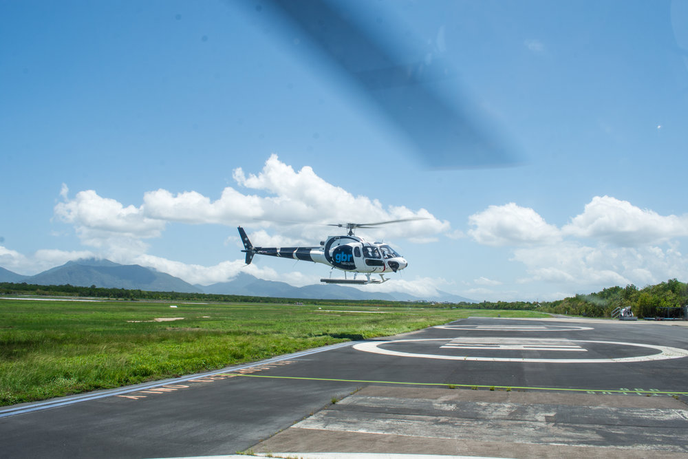 Helicopter at Cairns Airport