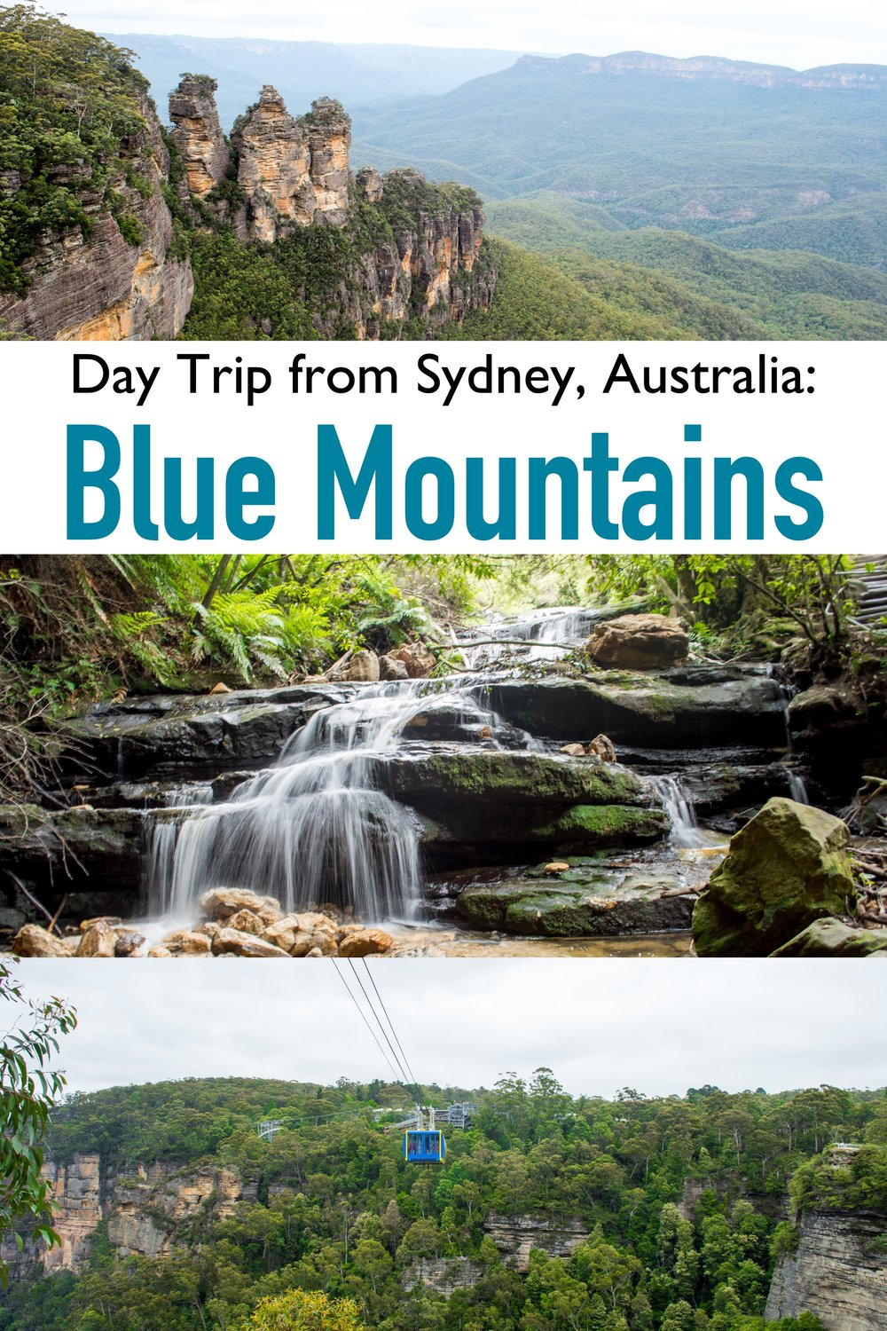 The Blue Mountains National Park is a perfect Day Trip from Sydney, Australia.   Just a 2 hour train ride from downtown, the Blue Mountains are an amazing escape out into nature #bluemountains #Sydney #australia #daytrip
