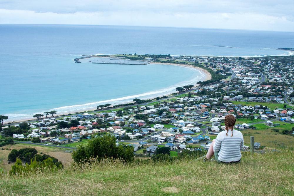 Overlooking Apollo Bay on the Great Ocean Road – Australia