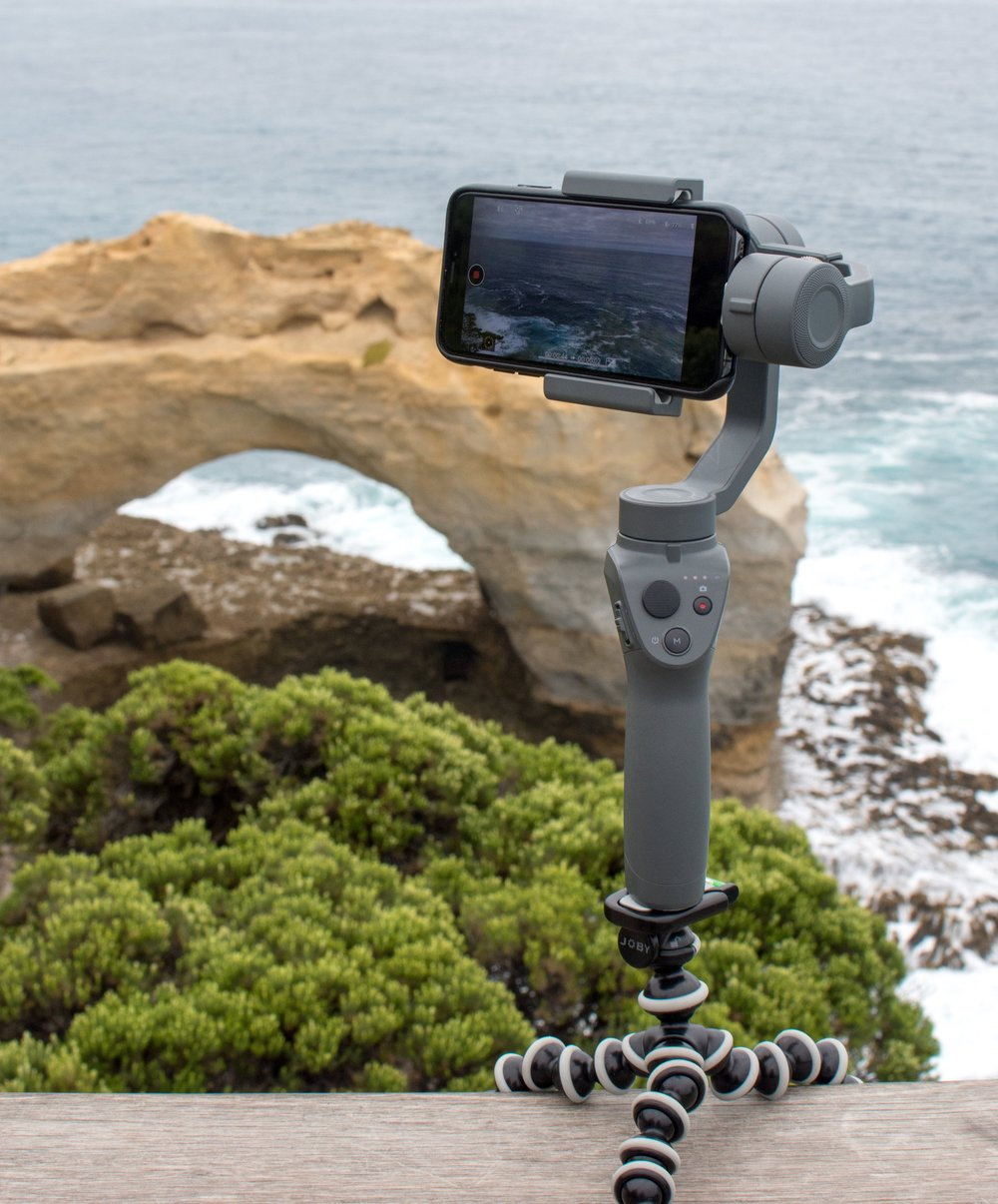 DJI Osmo Mobile 2 on the Great Ocean Road, Australia