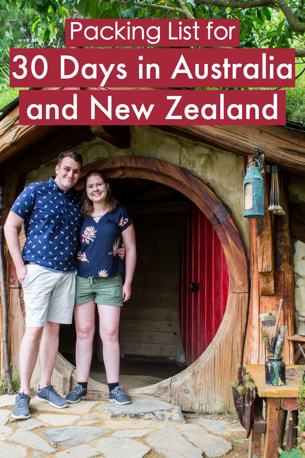 How to Pack for one month in New Zealand and Australia.  Complete packing list for 30 days.  #packing #australia #newzealand #travel