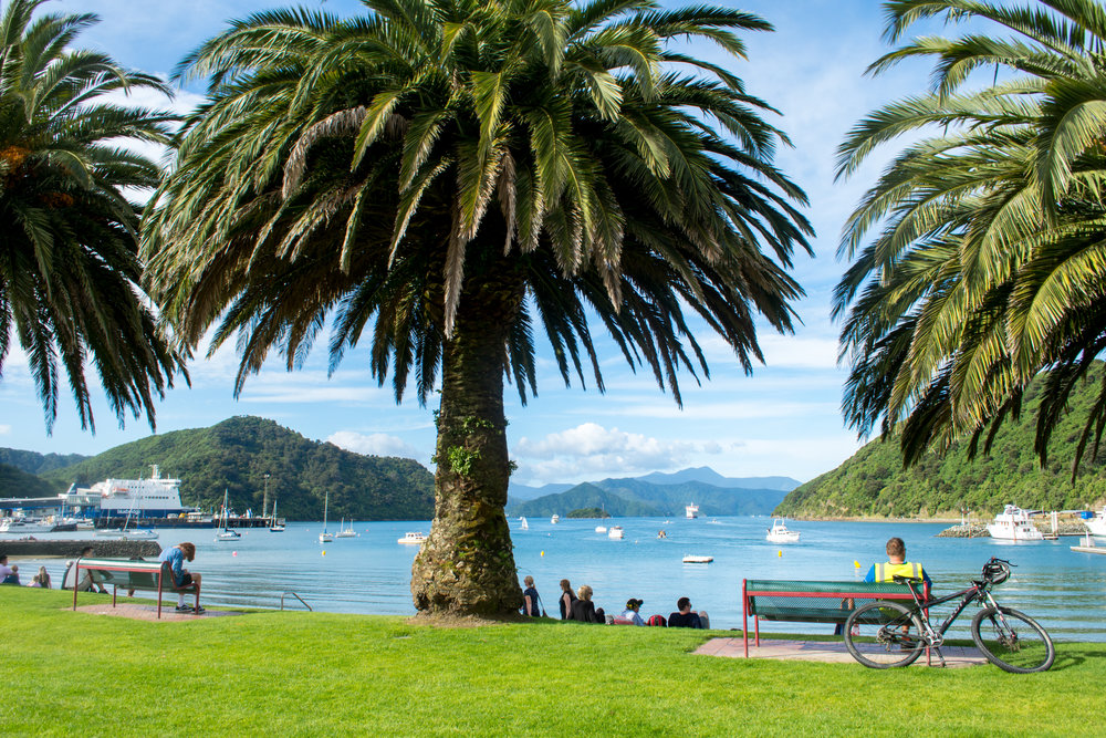 Picton Memorial Park overlooking Queen Charlotte Sound