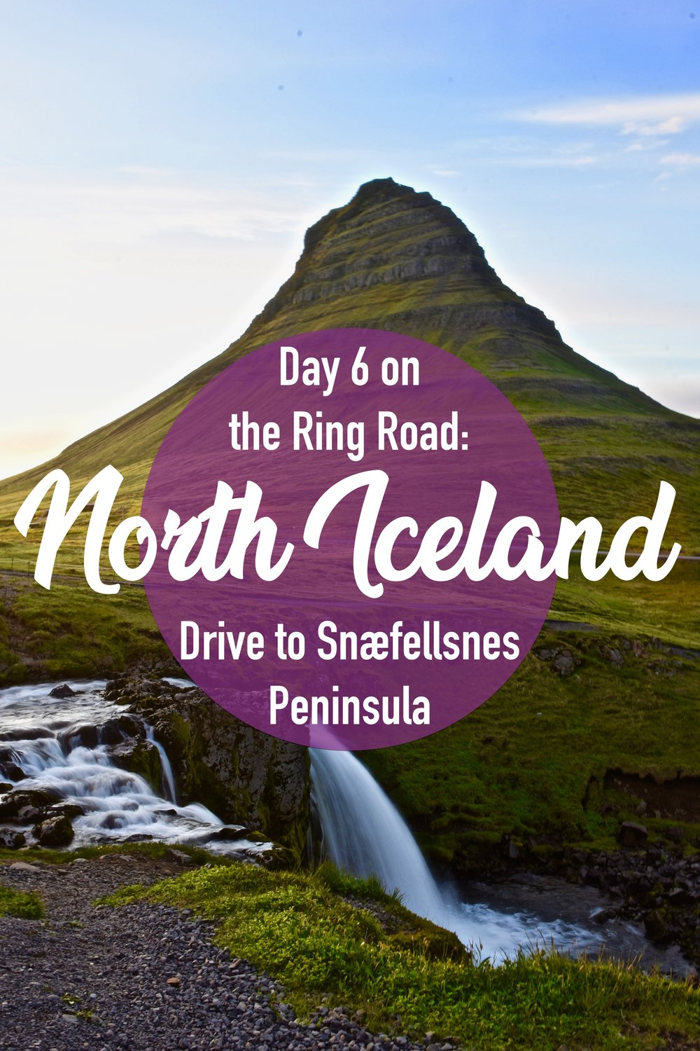 Driving through North Iceland on the Ring Road.  We went from Akureyri to Grundarfjördur to take a detour on the Snæfellsnes Peninsula. #northiceland #snæfellsnes #iceland #ringroad #europe #roadtrip #kirkjufell