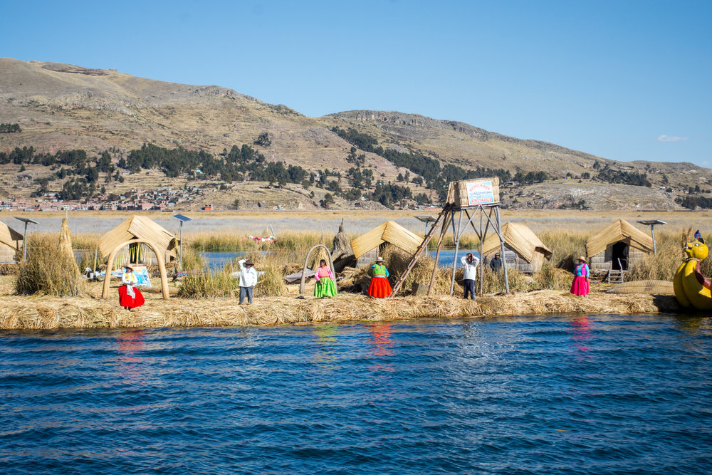 Uros Floating Island in Lake Titicaca