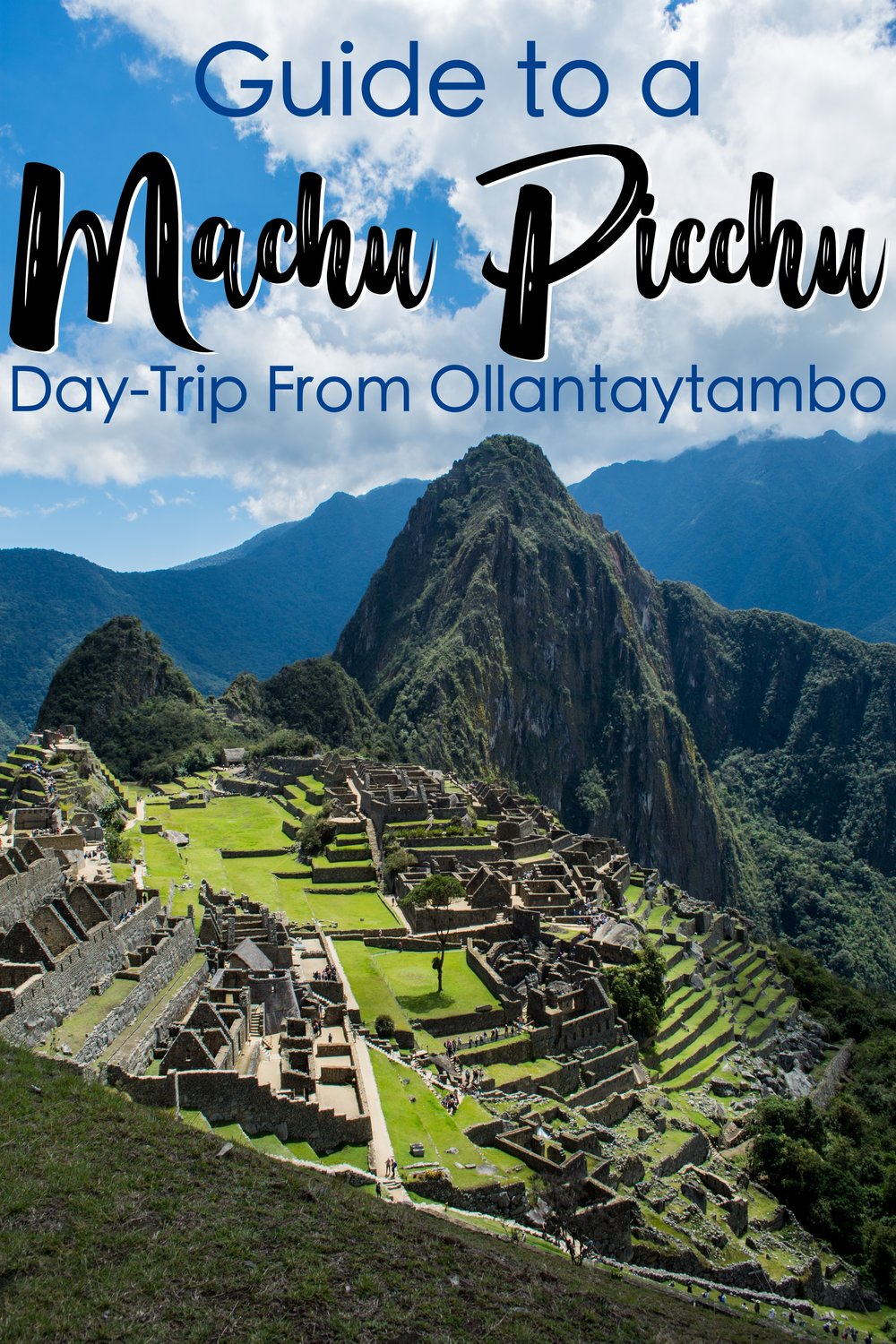 Machu Picchu can be visited as a day trip from Cusco or the Sacred Valley or you can stay overnight in Machu Picchu town. #MachuPicchu #Peru #Ollantaytambo #DayTrip