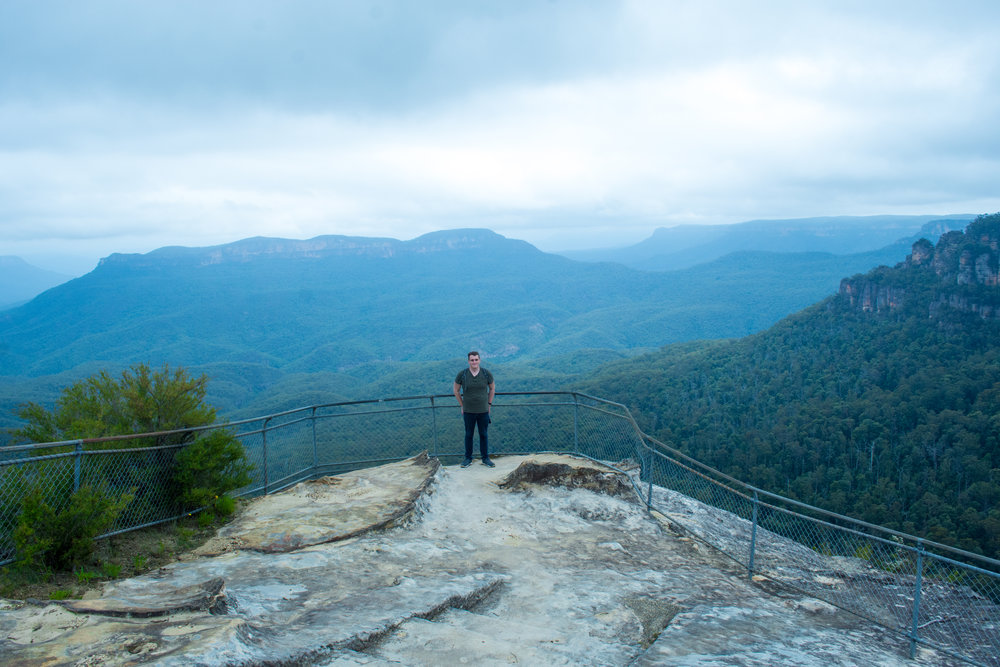 Olympic Rock Lookout along Leura Cascades to Gordon Falls Hike