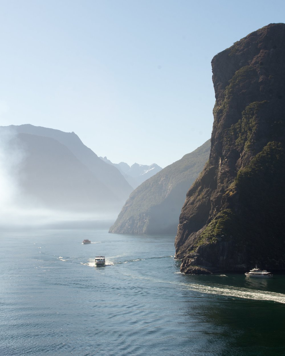 Exiting Milford Sound