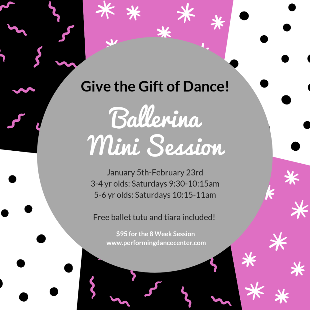 Click HERE for more information  about our 8 week mini session! Classes include tutu and tiara