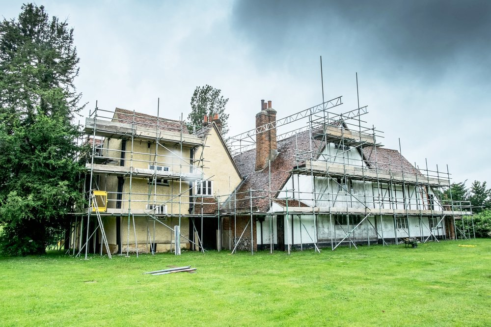 Headstone Manor during HLF funded redevelopment