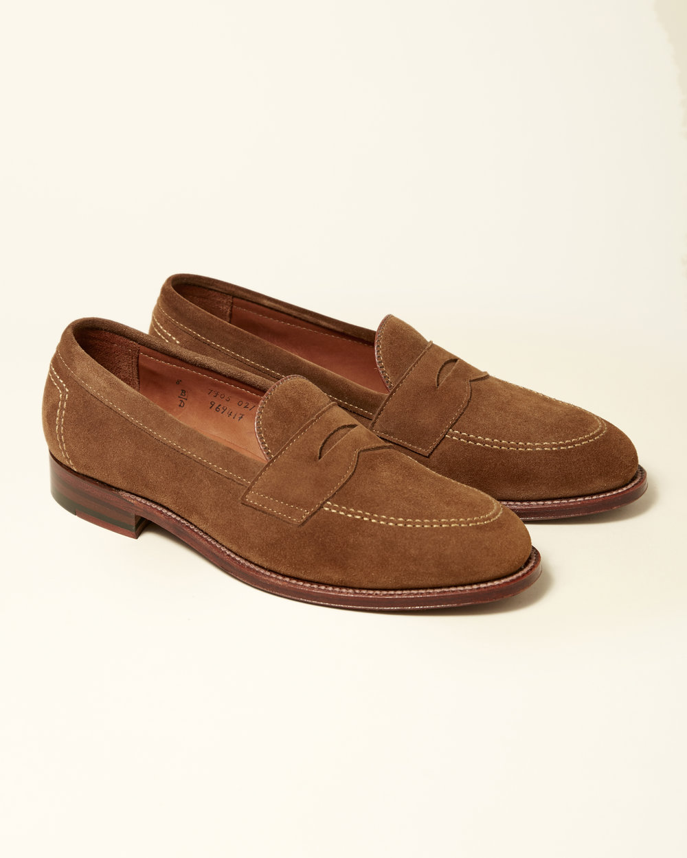 497f1df8306 Snuff Suede Penny Loafer — Brick + Mortar