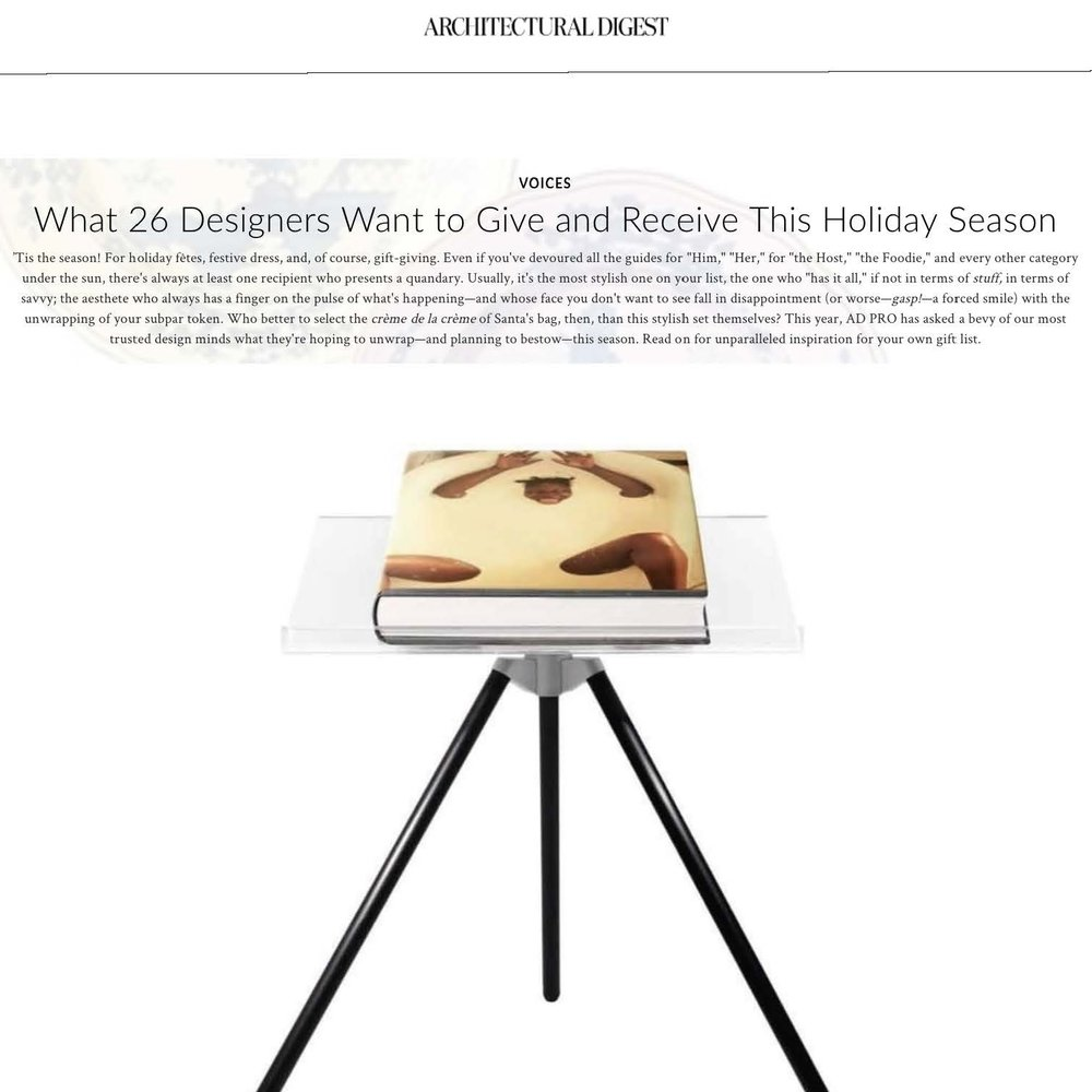 ARCHITECTURAL DIGEST - HOLIDAY GIFTS