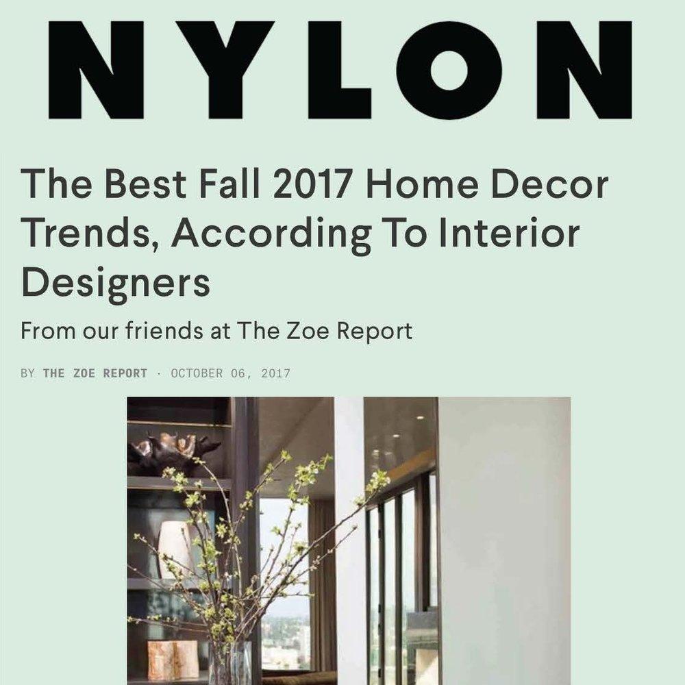 NYLON - FALL DESIGN TRENDS
