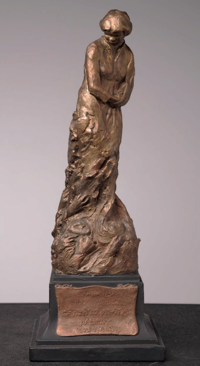 Meta Warrick Fuller,  Mary Turner: A Silent Protest Against Mob Violence,  1919, painted plaster. Museum of African American History, Boston, Massachusetts.