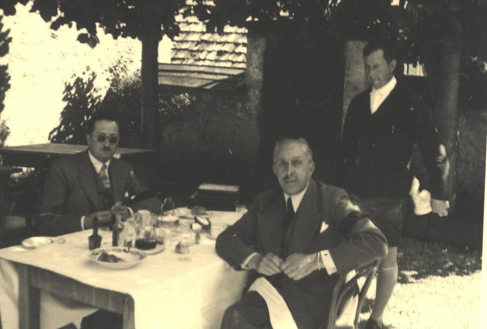König Alfons XIII von Spanien im Postmayr-Garten am 08.09.1938