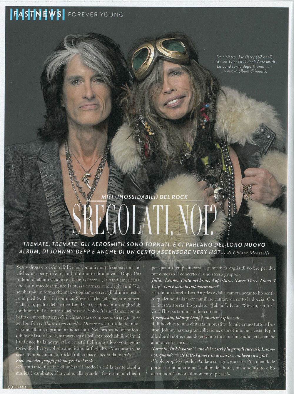 Grazia: Aerosmith interview