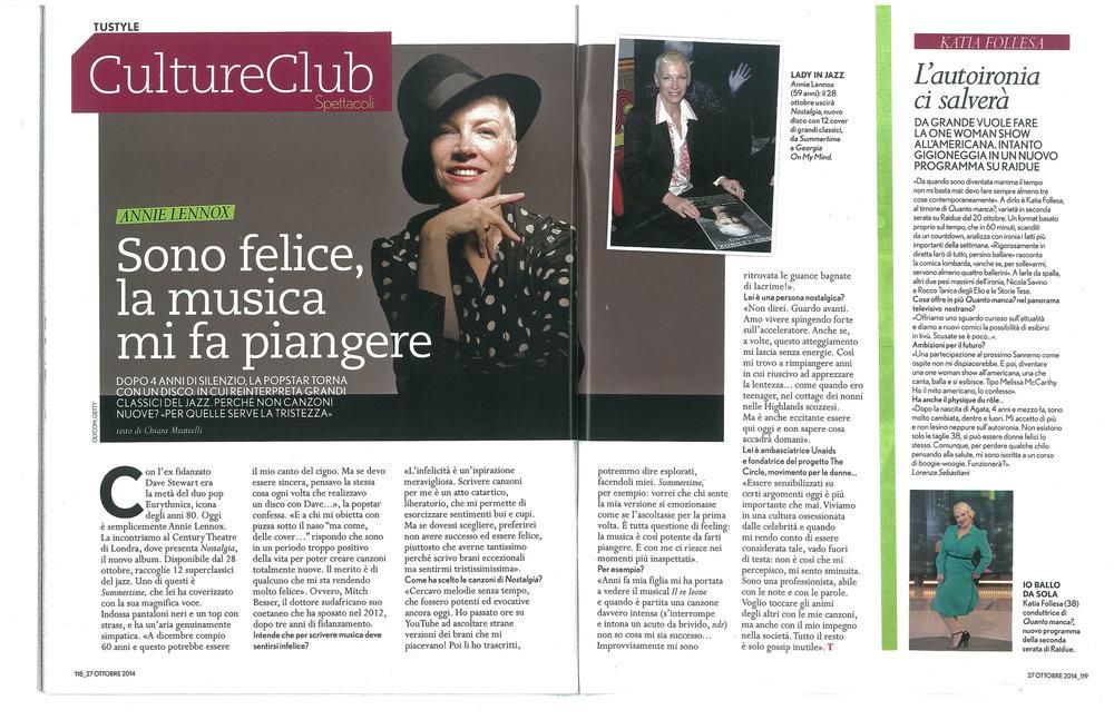 Tu Style: Annie Lennox interview