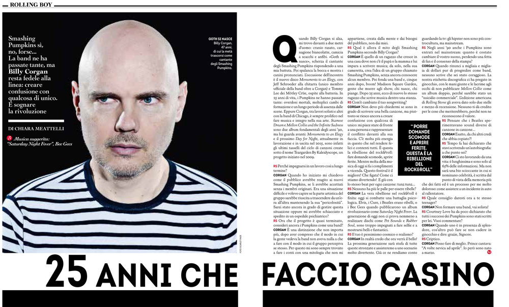 Rolling Stone: Billy Corgan interview