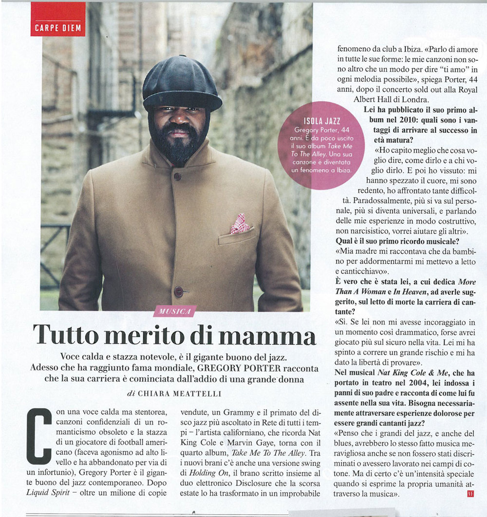 Vanity Fair: Gregory Porter interview