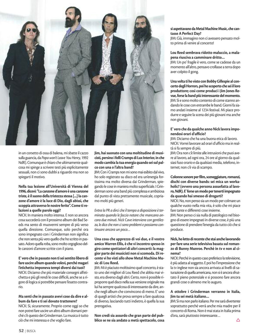 Buscadero: Grinderman interview
