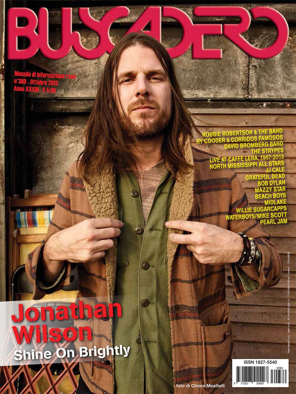 Buscadero: Jonathan Wilson cover photo & cover story