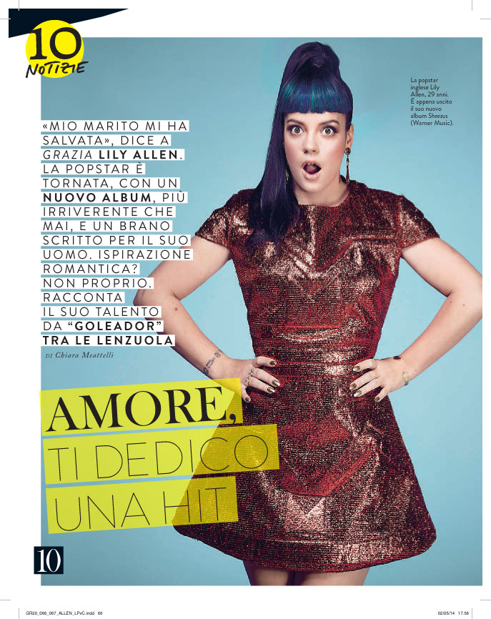 Grazia: Lily Allen interview