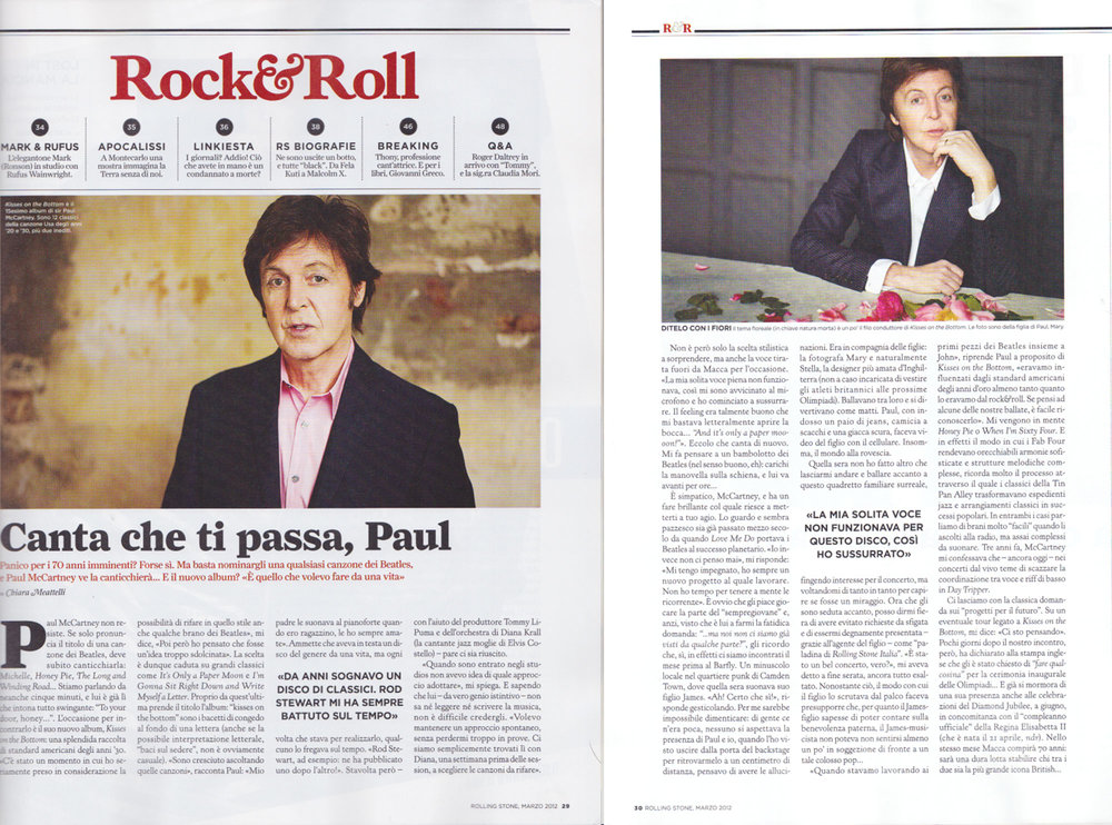 Rolling Stone magazine: Paul McCartney interview