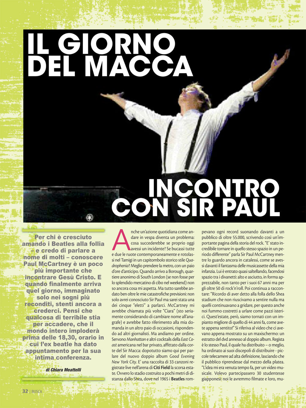 Buscadero: Paul McCartney interview