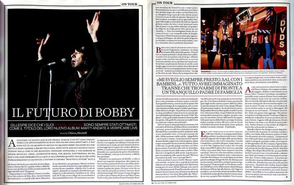 Rolling Stone magazine: Primal Scream interview