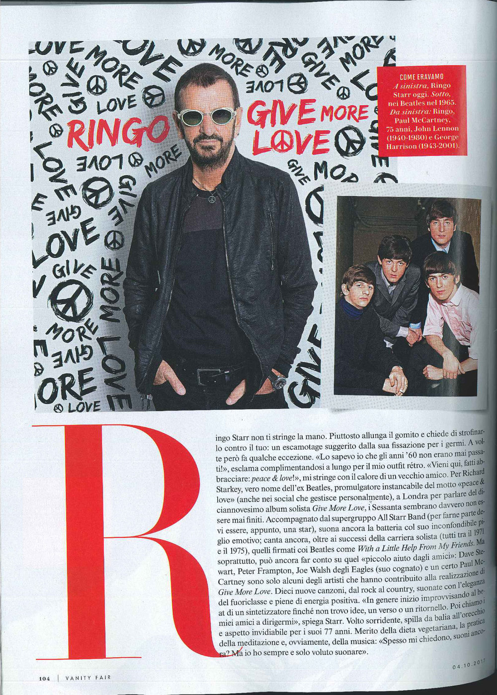 Vanity Fair: Ringo Starr interview