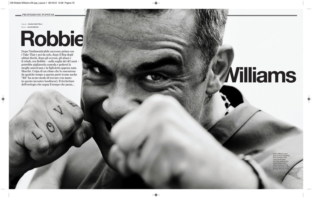 Rolling Stone magazine: Robbie Williams interview