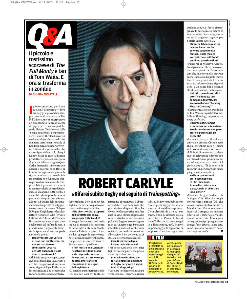 Rolling Stone: Robert Carlyle interview