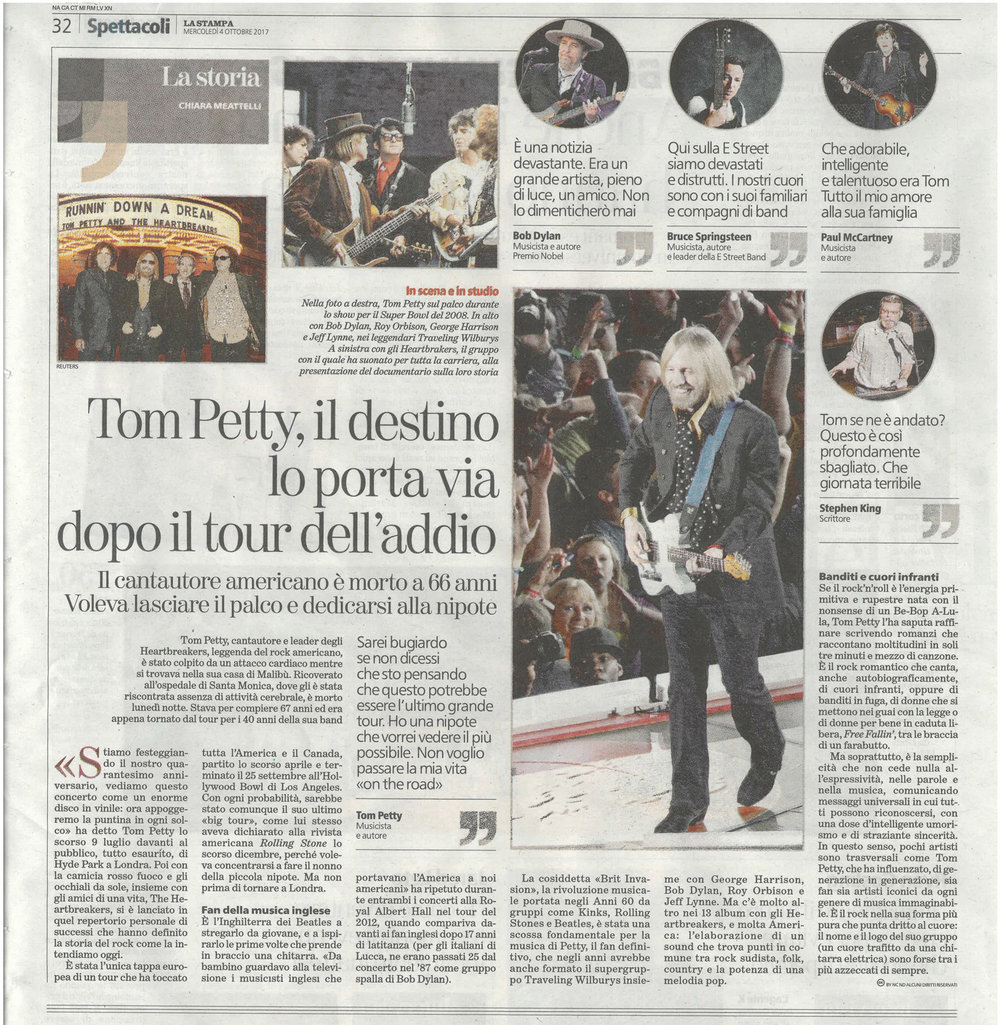 La Stampa: Tom Petty