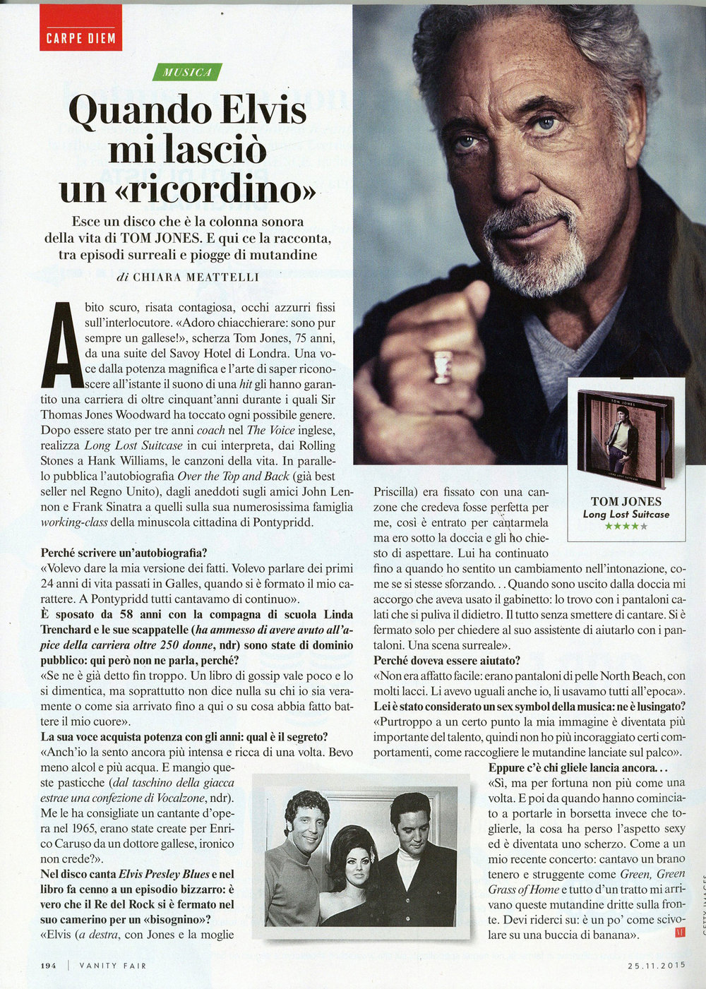 Vanity Fair: Tom Jones interview