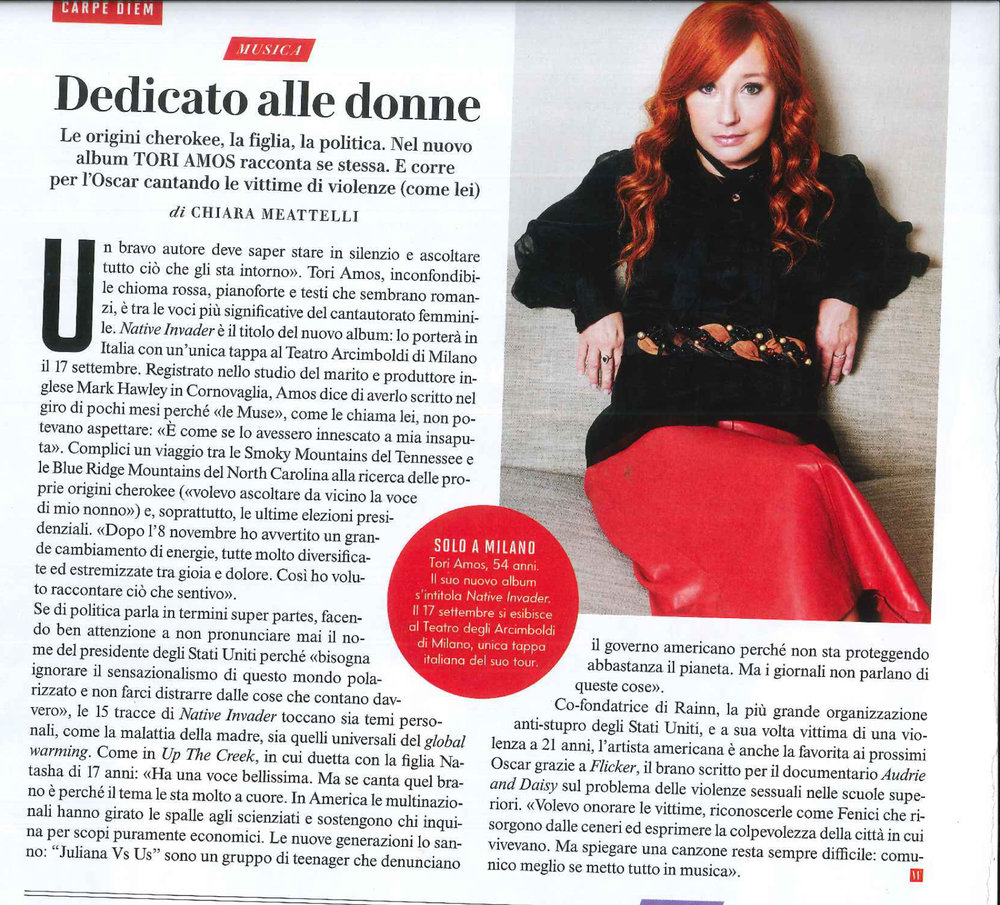 Vanity Fair: Tori Amos interview & photo