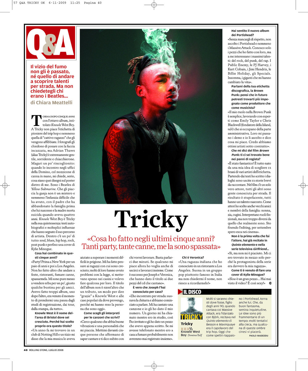 Rolling Stone: Tricky interview