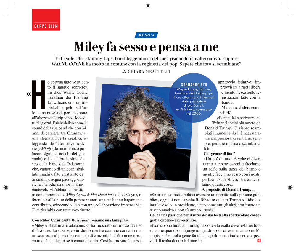 Vanity Fair: Flaming Lips interview & photo