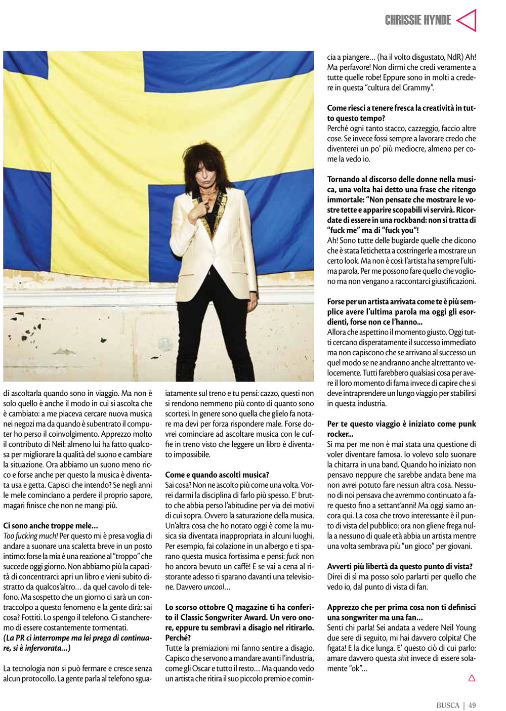 Buscadero: Chrissie Hynde interview
