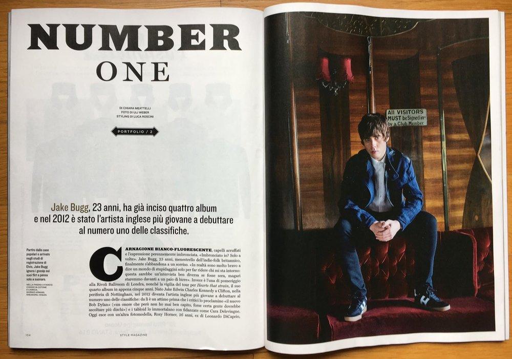 """""""Style"""" Corriere della Sera: Jake Bugg interview"""