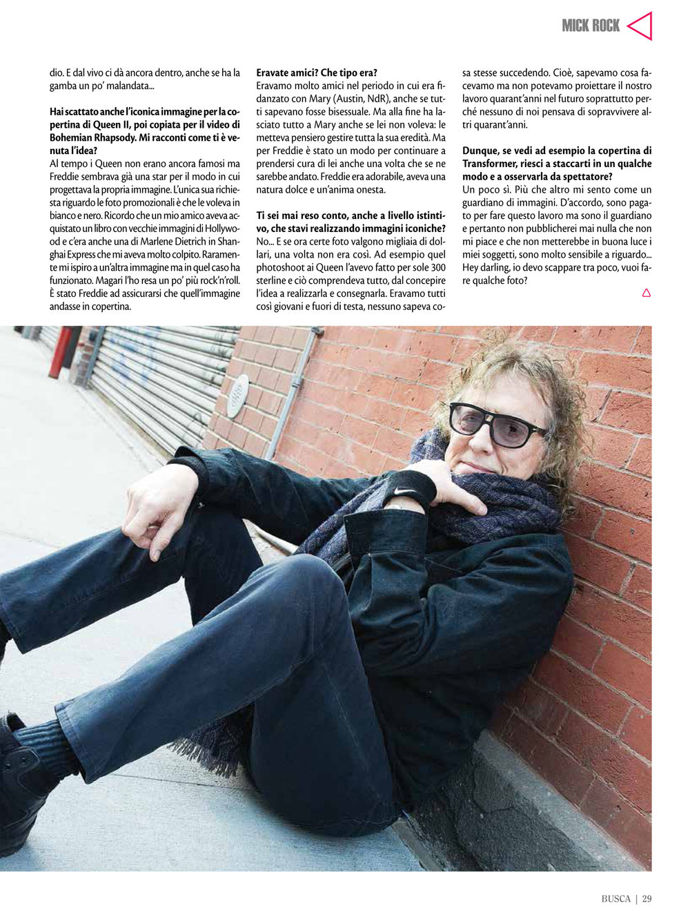 Buscadero: Mick Rock interview & photo