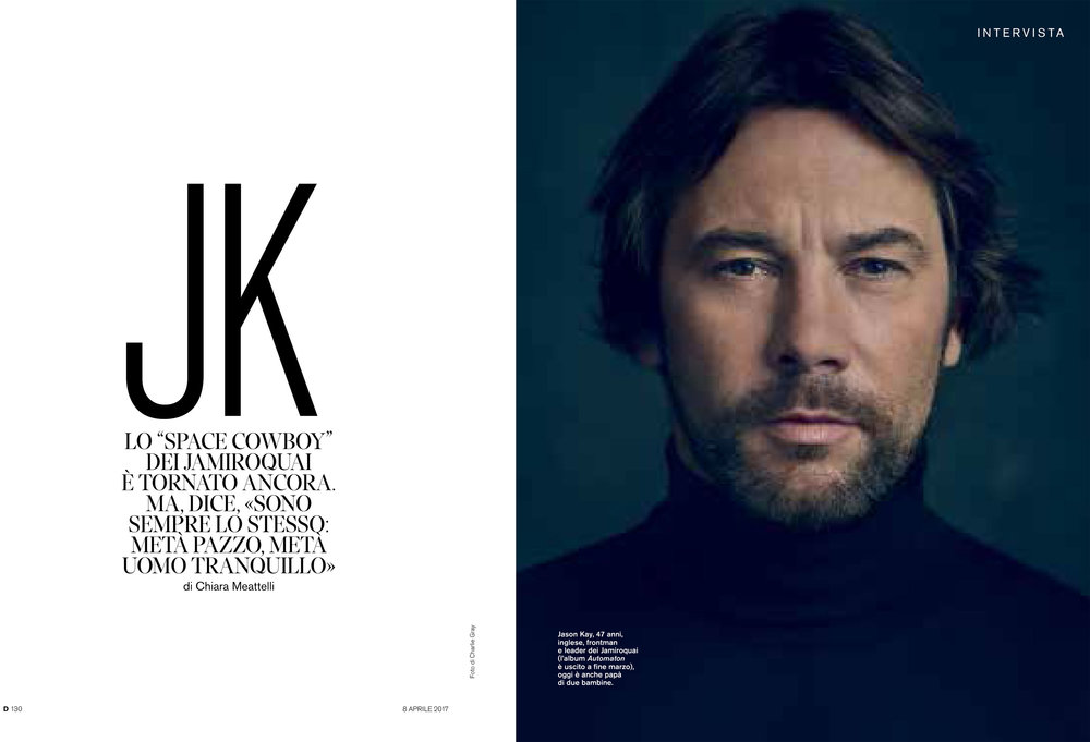 """D"" La Repubblica: Jamiroquai interview"