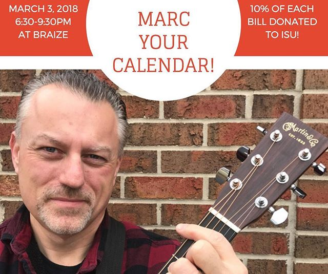Please join us this Saturday the 3rd for some tunes performed by @mbulandr1 who is an Alumni from Illinois State, B.S. '89, M.S. '92.  He will be singing and jamming on his guitar your favorites from the 70s to today!  If that's not cool enough, BraiZe will be donating 10% of sales during the performance to the ISU Foundation Board! Make sure to come out this SATURDAY to support your Redbirds!  We will also have a fun twist on a whiskey and coke. Help us name it & put your suggestions in the comments below 👇🏼 #blono #isu #alumni #fillthetipjar4ISU #foundationboard @illinoisstateu @levesterj