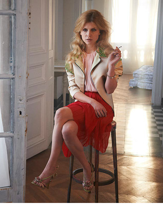 CLEMENCE POESY by Max Vadukul