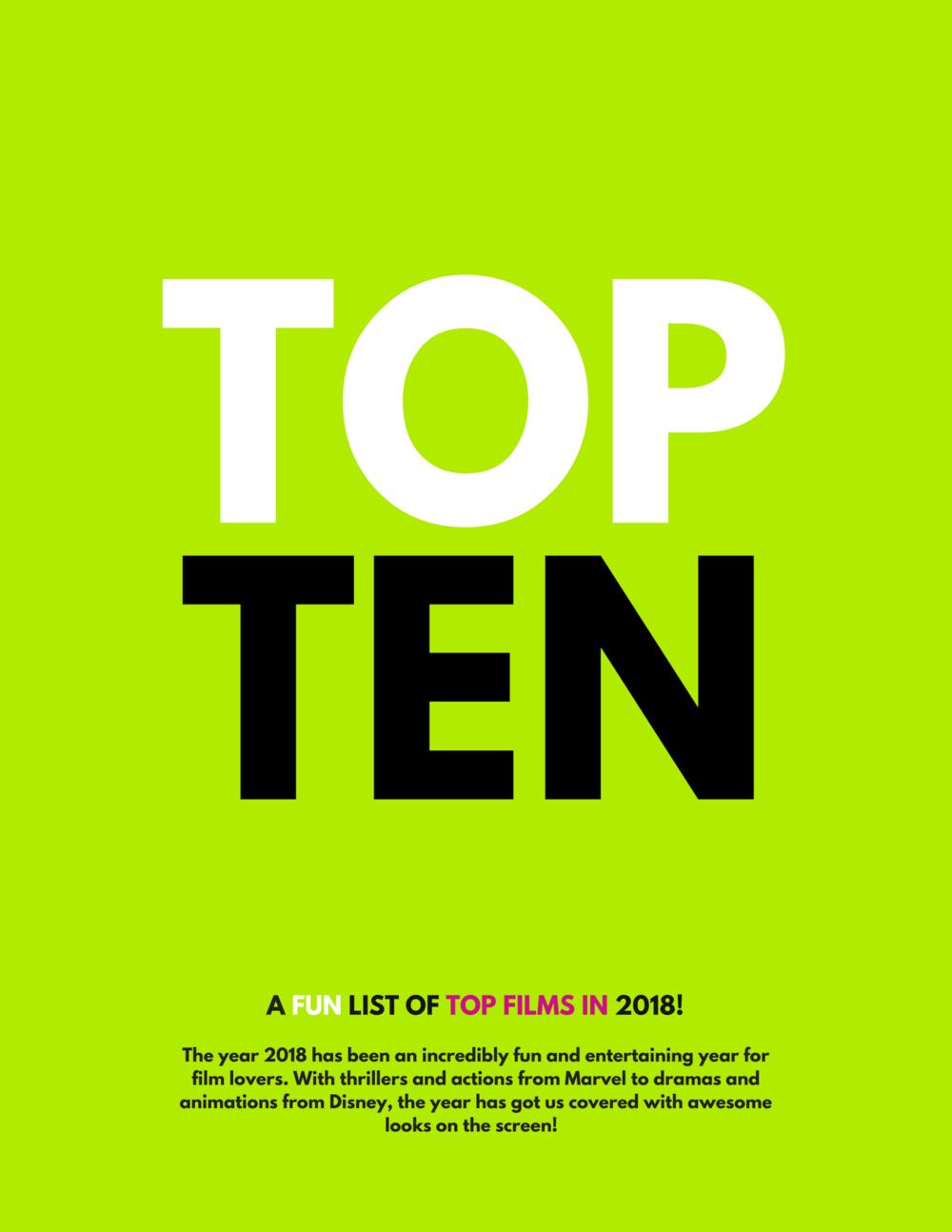 Top 10 2018 Films