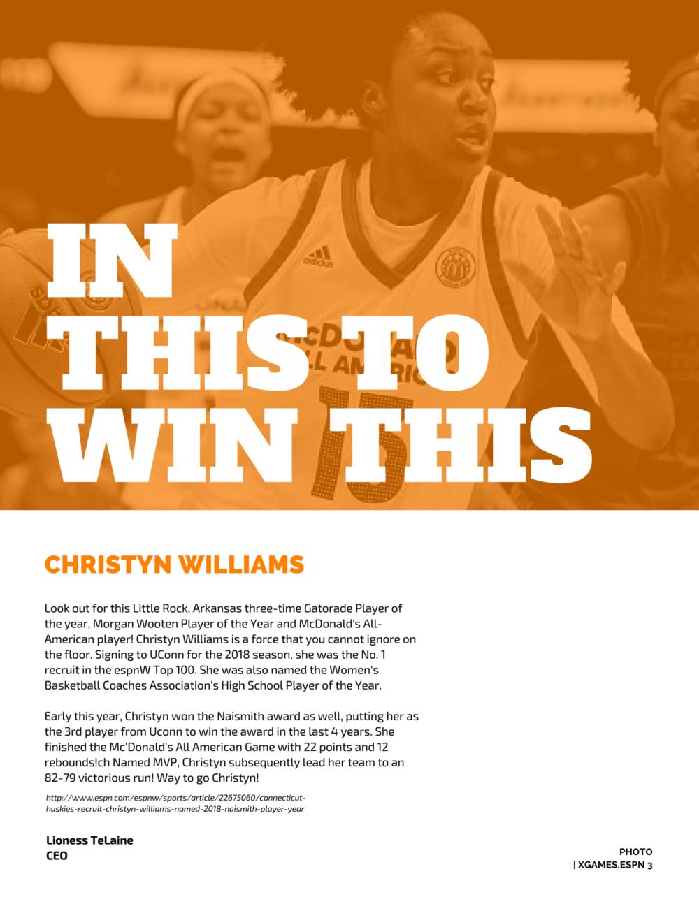 Follow Christyn Williams on Twitter -