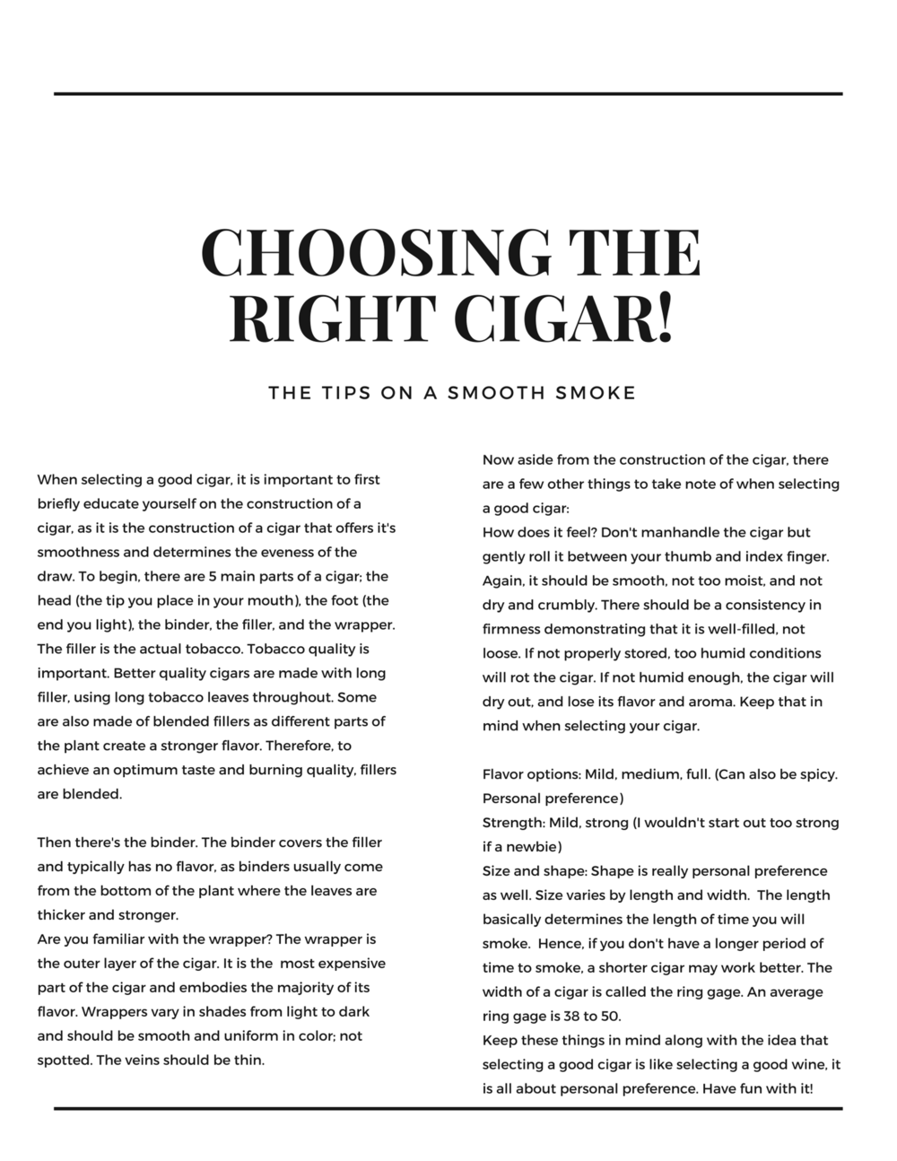 THE OUTLET MEDIA MAG- cigars
